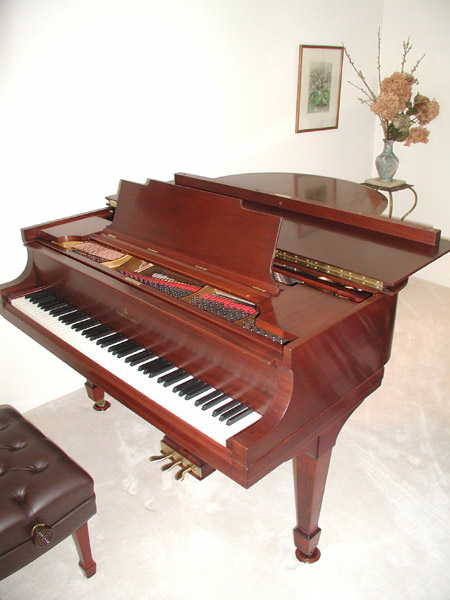 Finished Mahogany Steinway and Sons Grand Piano